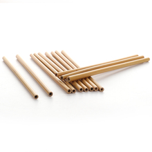 Wholesale 12pcs Drinking Straws Natural Bamboo Reusable Eco-Friendly Party Kitchen&Bar Appliance