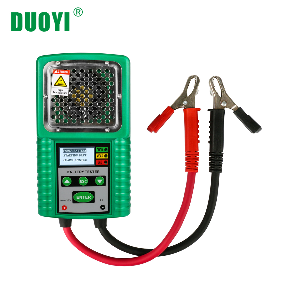 DUOYI DY226A 3 In 1 Car Battery Tester Traction 6V 12V DC Auto Power Load Starting Charge CCA Test Tool Battery Measurement
