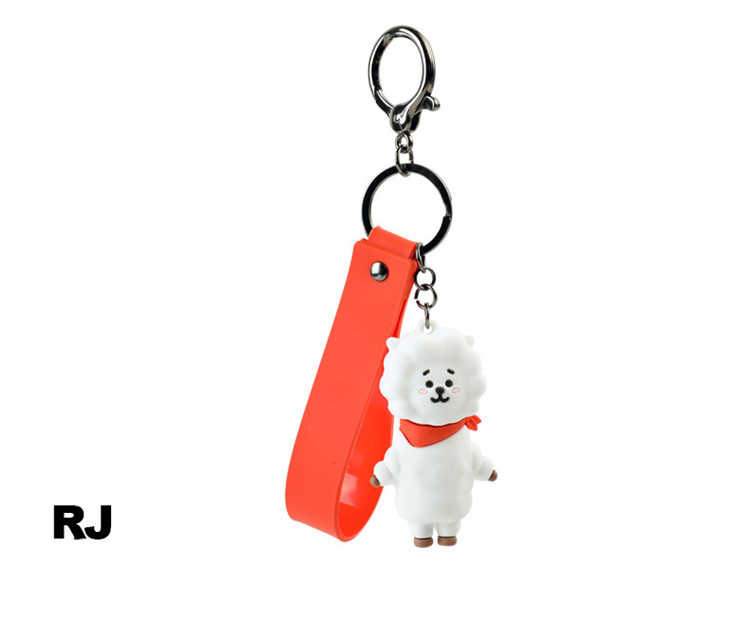 KPOP Bangtan Boys Keychain Korean Band Cartoon Figure Pendent Key Ring Gifts
