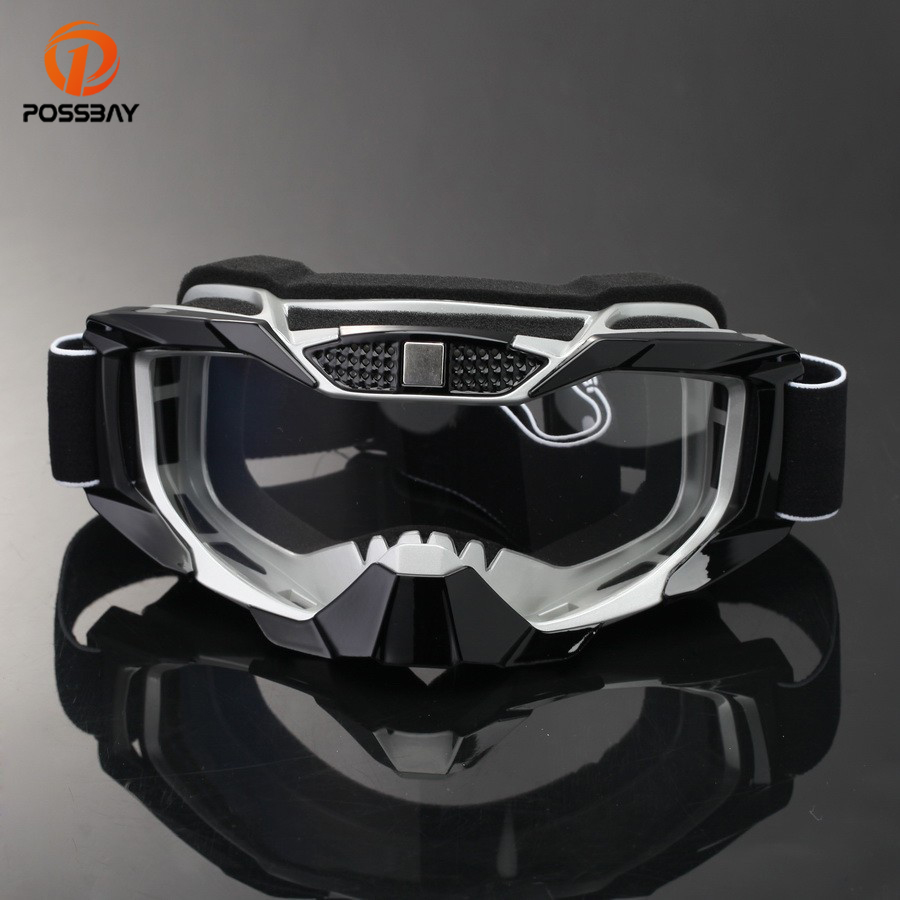 POSSBAY Motorcycle Glasses Snowboard Ski Goggles Racing Motocross Goggles Cafe Racer Dirt Bike Outdoor Sport <font><b>Culos</b></font> Moto Gafas image
