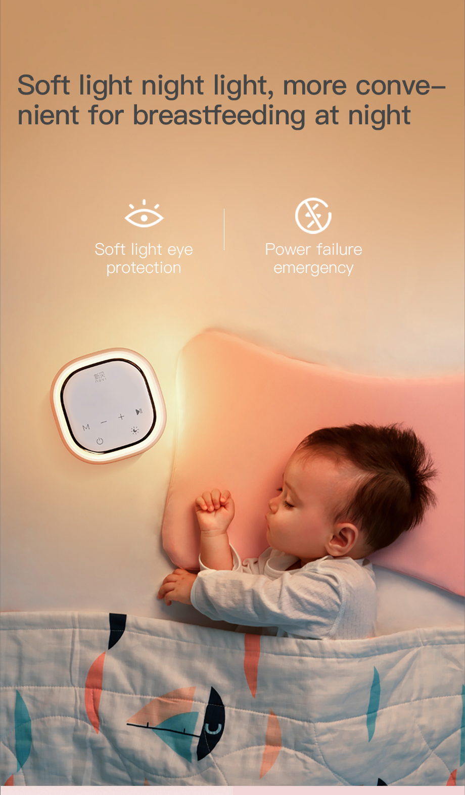 NCVI Double Electric Breast Pumps,Protable Dual Breastfeeding Milk Pump with Night Light,Touch Screen Adjustable Mode