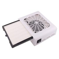 48W Nail Suction Dust Extractor Collector Dust Filter Fan Uv Acrylic Tip Dust Gel Vacuum Cleaner Manicure Pedicure Tool Eu Plug
