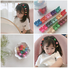 24pcs/Lot Girls Cute Small Plum Blossom Hair Claws Children Lovely Clips Hairpins Headbands Kids Fashion Accessories