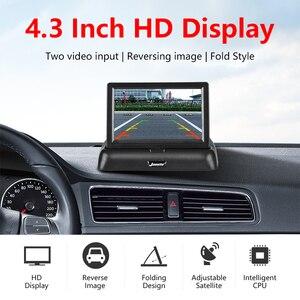"Image 2 - Jansite 4.3 ""TFT LCD מתקפל רכב צג HD תצוגת מצלמה הפוכה מצלמה Paking מערכת לרכב אוטומטי האחורי מוניטורים NTSC PAL"