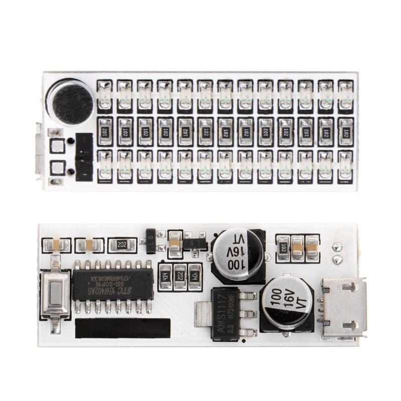 Voice Control USB Mini Music Spectrum Light  LED Board  Sensitivity Adjust