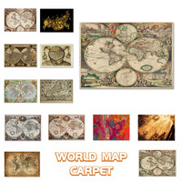 Euro Living Room Carpet World Map Nordic Style Printed Rugs For Bedroom Study Room Dining Hall Kitchen Carpet Mat In The Hallway