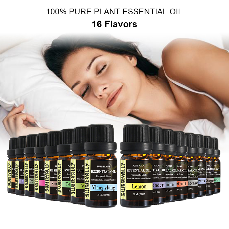 13 Flavors 10ml Pure Plant Essential Oils Set Natural Premium Aromatherapy Fragrance Health Care Essential Oil Home Aroma