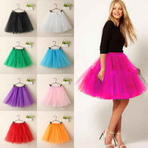 Vintage Tulle Skirt Short Tutu Mini Skirts Ballet Ball Gown Mini skirt Women Girl Princess Ballet Tulle Tutu Skirt 3FS