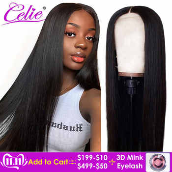 Celie Hair Lace Front Human Hair Wigs Pre Plucked Brazilian Straight Lace Front Wig For Black Women 360 Lace Frontal Wig - DISCOUNT ITEM  38% OFF Hair Extensions & Wigs