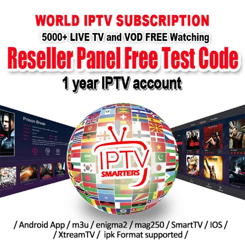 10pcs Codes Iptv 6 Months 1 Year Subscription Code Reseller Panel Uk Dutch France Arabic Germany Portugal Usa Iptv M3u Smart Tv Aliexpress