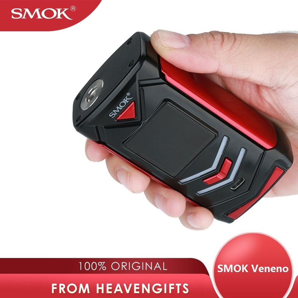 Clearance SMOK Veneno 225W TC Box MOD Max 225W 1.3 Inch HD Screen No 18650 Battery Mod Box E-cig Vs G-priv/ Drag 2/ Luxe Mod