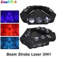 Lumière principale mobile de faisceau de LED d'araignée de Triangle de RGBW 4IN1 9X10W lumière stroboscopique colorée de faisceau de LED avec la lumière de projecteur de Laser de 180MW RG|Éclairage de scène à effet| |  -