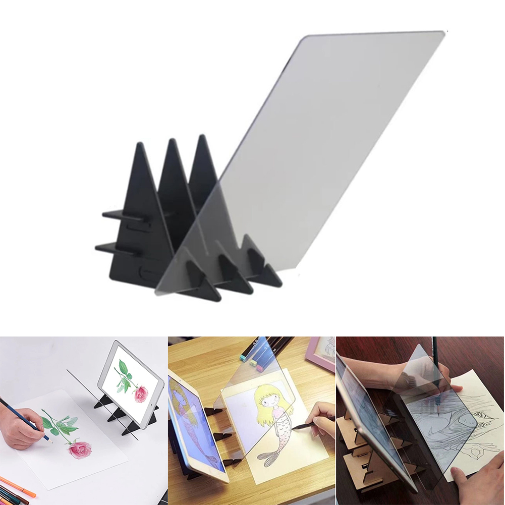 Home Copy Mirror Reflection Table Optical Image Facing Painting Projection Tracing Drawing Board Plotter Sketch Specular Plate