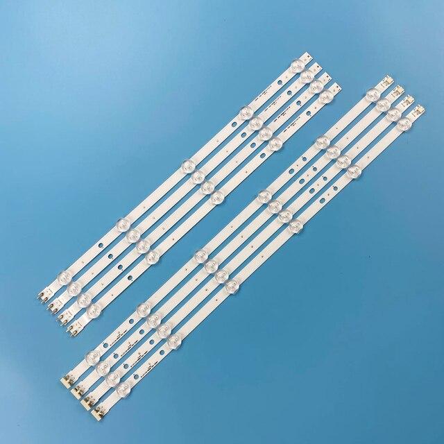 Yeni 8 adet/takım LED arka ışık şeridi Samsung UE46H5373 UE46H6203 UN46FH6030F D3GE 460SMA R2 D3GE 460SMB R1 2013SVS46 3228N1