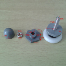 Replacement Shower Door Roller ABS Wheel Runner With Stainless Steel Shaft 0.98