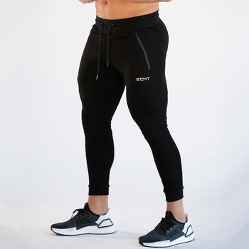 Casual Skinny Pants Men Jogger Sweatpants Gym Fitness Workout Trousers Male Spring Autumn Running Sports Cotton Track Pants autumn winter men sweatpants drawstring with pocket sport pants casual fitness jogger running workout pants trousers sportswear