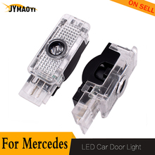 цена на 2 PCS For benz logo LED Car Door light Shadow Lamp welcome light for Mercedes Benz W203 W240 W209 R171 R199 C SLK for AMG LOGO
