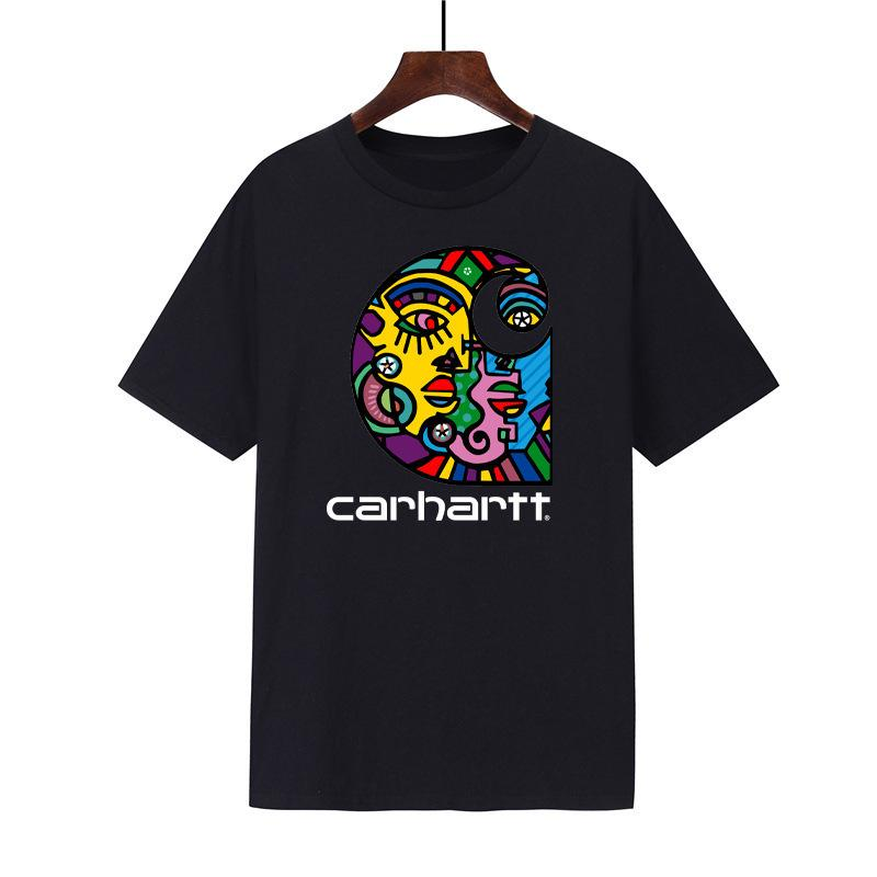 Men's and Women's Street Hip-hop Personality T-shirts 2021 Summer Trend New Classic Crossover