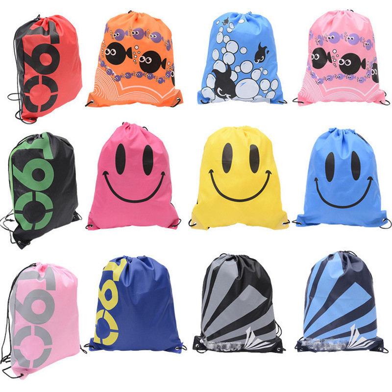 New School Drawstring Shoes Bag Football Toys Storage Bag Backpack Travel Organizer Housekeeping Pouch Organizer