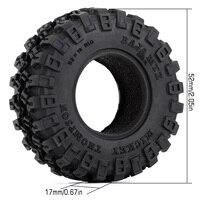 """INJORA 4PCS 1.0"""" All Terrain Soft Rubber Wheel Tires 52*17mm for 1/24 RC Crawler Car Axial SCX24 90081 AXI00001 Deadbolt 2"""