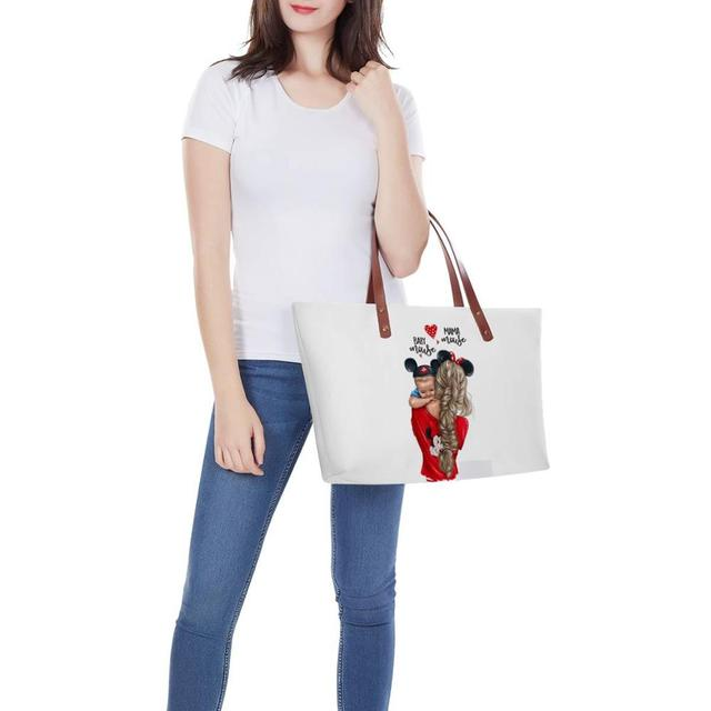 WHEREISART Women Bags Handbags 2019 Famous Brands African Beach Bag Bolsa Feminina Afro Black Girls Tote Bags PU leather Purse 4