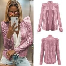 цена High quality spring and summer fashion party jacket blazer ladies shimmer sequins long sleeve blazer онлайн в 2017 году