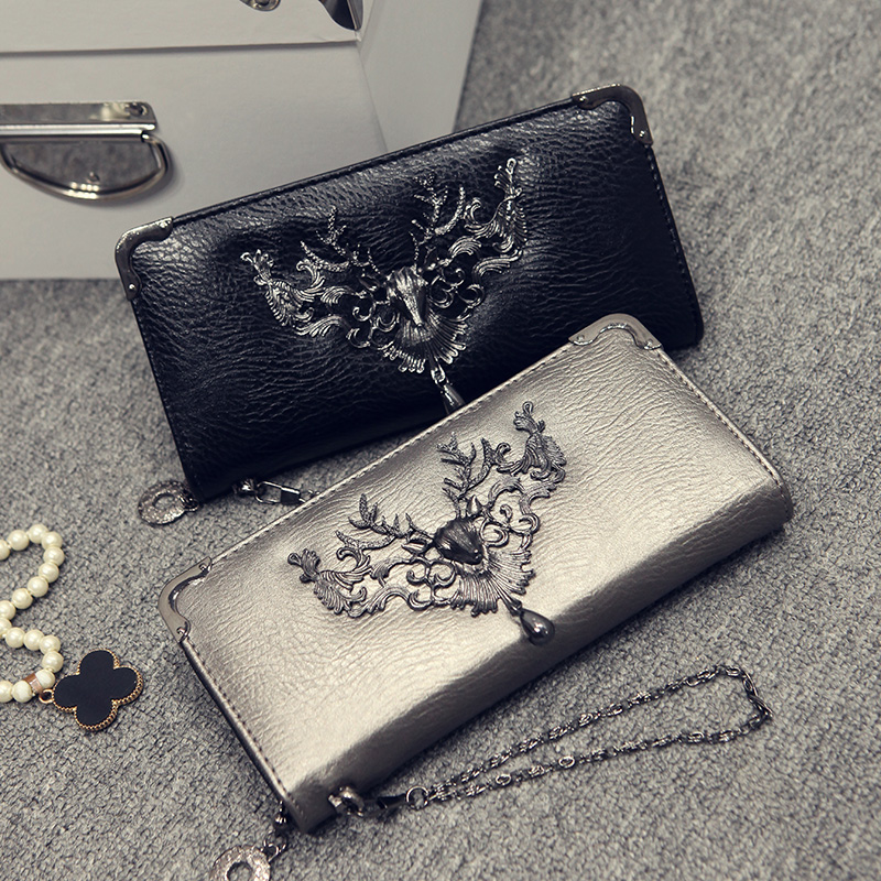 2020 New Fashion Wallet Women Deer Head Wallet Long Zipper Wallet   Coin Purse Card Holder Carteira Feminina Purse Cartera Mujer