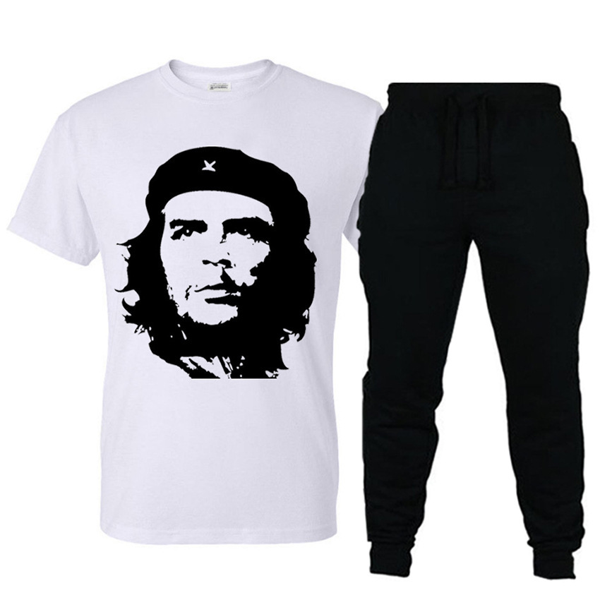 2019 New Style Leisure Suit Che Guevara Avatar Printing Short-sleeved T-shirt Sports Casual Trousers Set