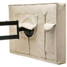 Outdoor TV Cover 30 inch - 32 inch Beige Weatherproof Universal Protector for