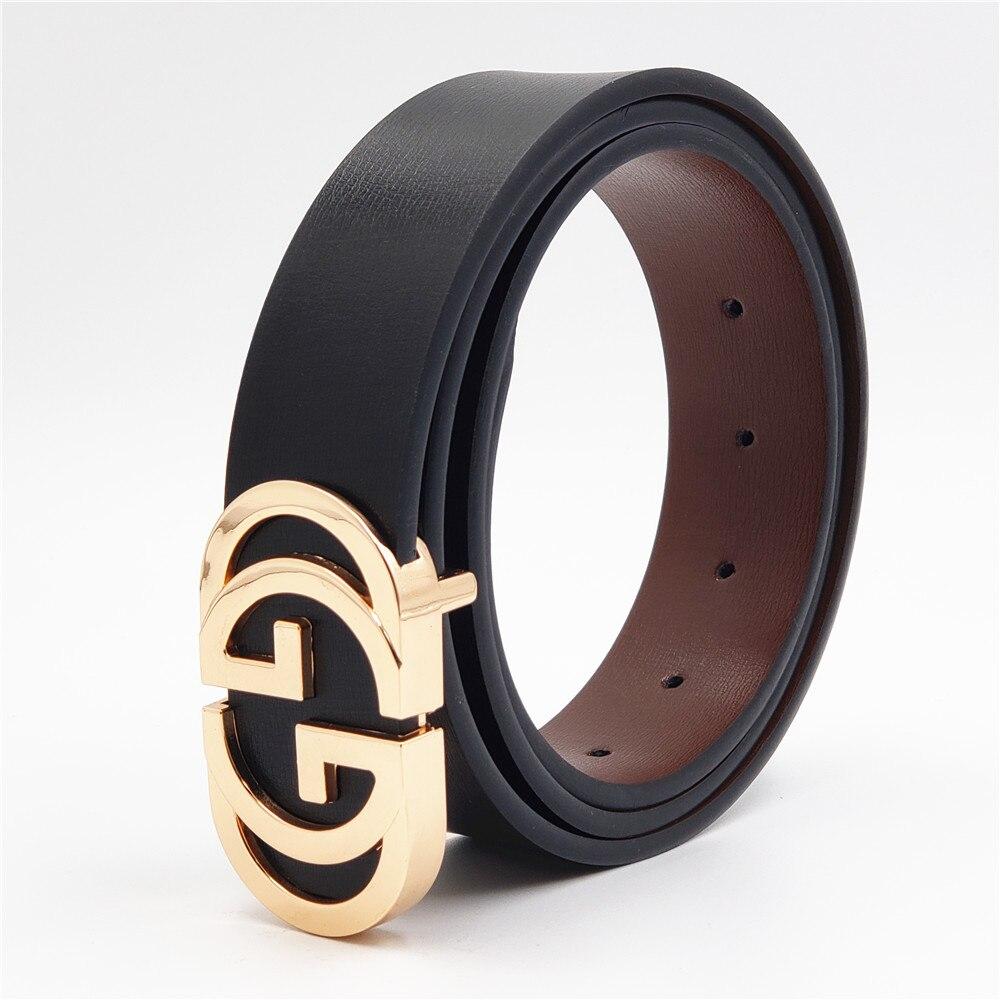 Cinturones de diseño 2019 cinturones de cuero genuino de lujo de moda cinturón de cintura de hebilla suave para Jeans Casual hombres mujeres cinturón de correa