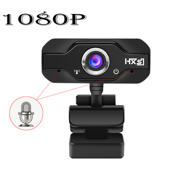 HXSJ 1080P HD Webcam InTeching USB Widescreen Computer Camera with Microphone for PC, Desktop or Laptop 360 degree rotation
