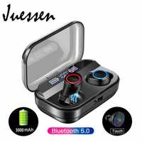 Wireless Earbuds Bluetooth 5.0 Earbuds with 3000mAh Charging Case Led Battery Display 90H Playtime in-Ear Bluetooth Headset IPX7