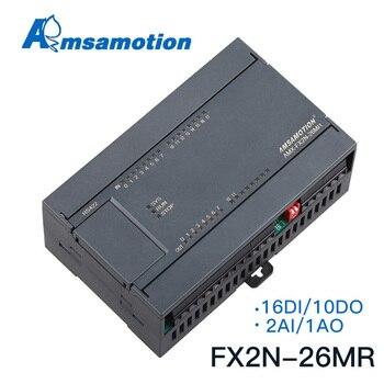 цена на FX2N-26MR FX2N-26MT Replace MELSEC FX2N PLC 2AI/1AO 16DI/10DO MODBUS Analog function Transistor Relay Type Mitsubishi
