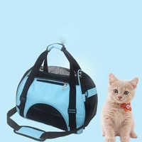 Cão de estimação gato bolsa de ombro saco de viagem gato cão de transporte saco de portador de animais de estimação macio pequeno respirável pequeno animal de estimação bolsa gato mochila s/m/l