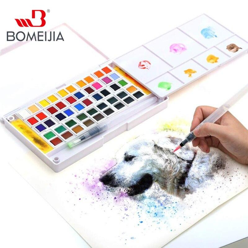 12/18/24/36 Colors Watercolor Paint Set Professional Watercolor Pan Set, Travel Watercolor Kit 2 Sponges & A Mixing Palette