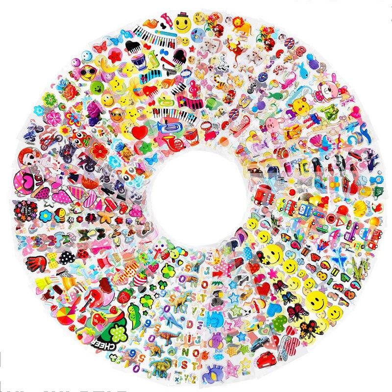 30 Вт, 20 листов 3D пухлые наклейки для детей Для мальчиков и девочек разные объемные наклейки ассорти альбом для стикеров с изображением принц...