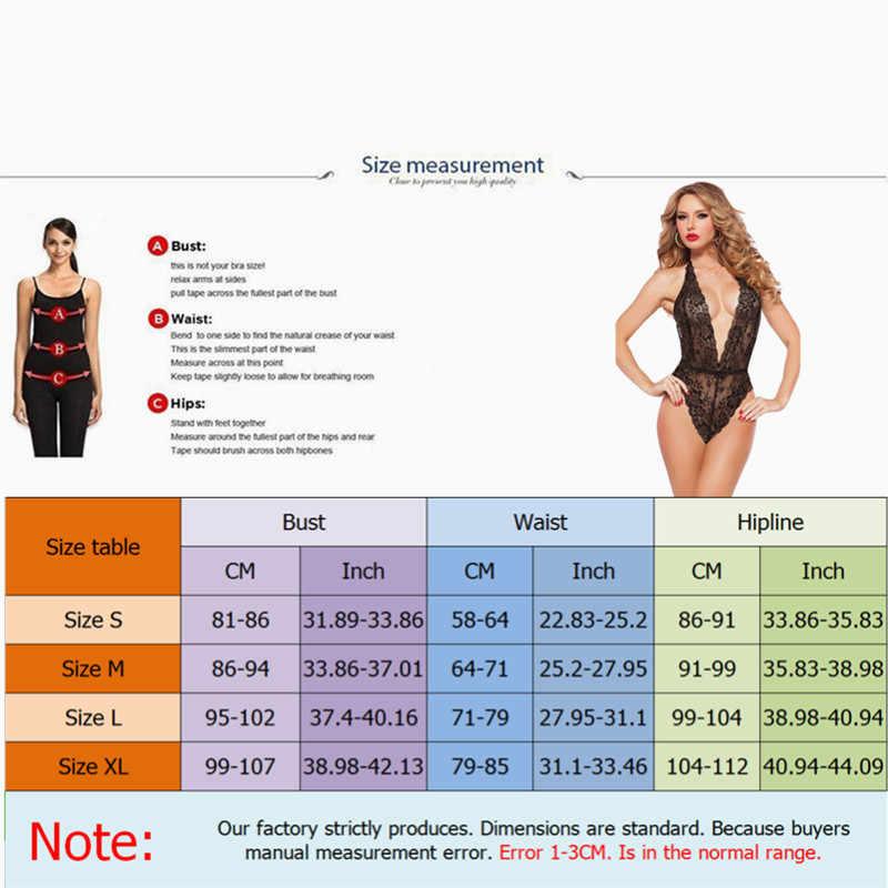 여름 3 색 플러스 사이즈 란제리 세트 여성 레이스 딥 v 뜨거운 에로틱 홀터 오픈 브라 세트 섹시한 란제리 원피스 속옷 세트