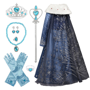 Kids Cosplay Princess Girl Dress Frozen 2 Anna Elsa 2 Carnival Costume Girls Dress Children Party Clothing Kids Fancy Vestidos