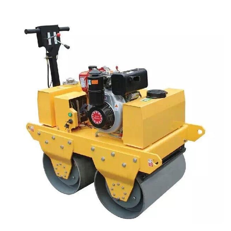 Yeni çift tamburlu yol silindir sıkıştırıcı makine inşaat araçları çöp kompaktörü yol kompaktör makinesi