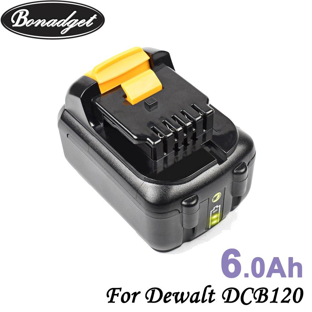 Сменный аккумулятор Bonadget 6000 мАч 4000 мАч DCB120 для электроинструмента Dewalt 10,8 В DCB120 DCB121 DCB123 DCB125, литий-ионный аккумулятор Ач