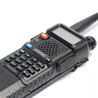 vhf uhf שדרג 8W Baofeng UV-5R VHF Talkie Walkie / UHF Handy Dual Band CB שני הדרך רדיו משדר 3800mah Li-thium סוללה (3)