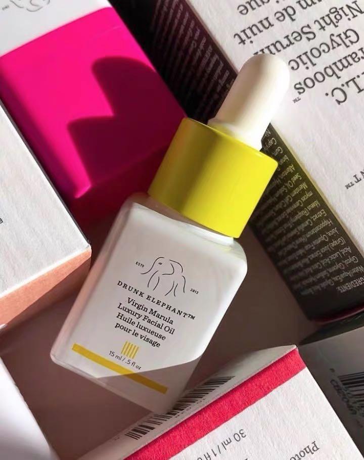 Drunk Elephant Virgin Marula Luxury Facial Oil - Vegan Anti-Aging Skin Care and Face Moisturizer primer 3
