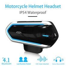 Capacete da motocicleta fone de ouvido bluetooth bt comunicador fone de ouvido sem fio moto transmissor sistema comunicação