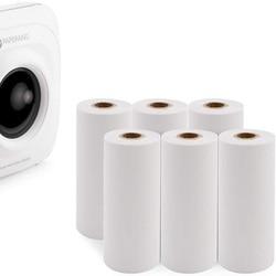 5 рулонов Мини карманный фото принтер кассовый аппарат бумажная бумага для печати наклеек для Paperang Карманный термальный POS принтер 57x30 мм