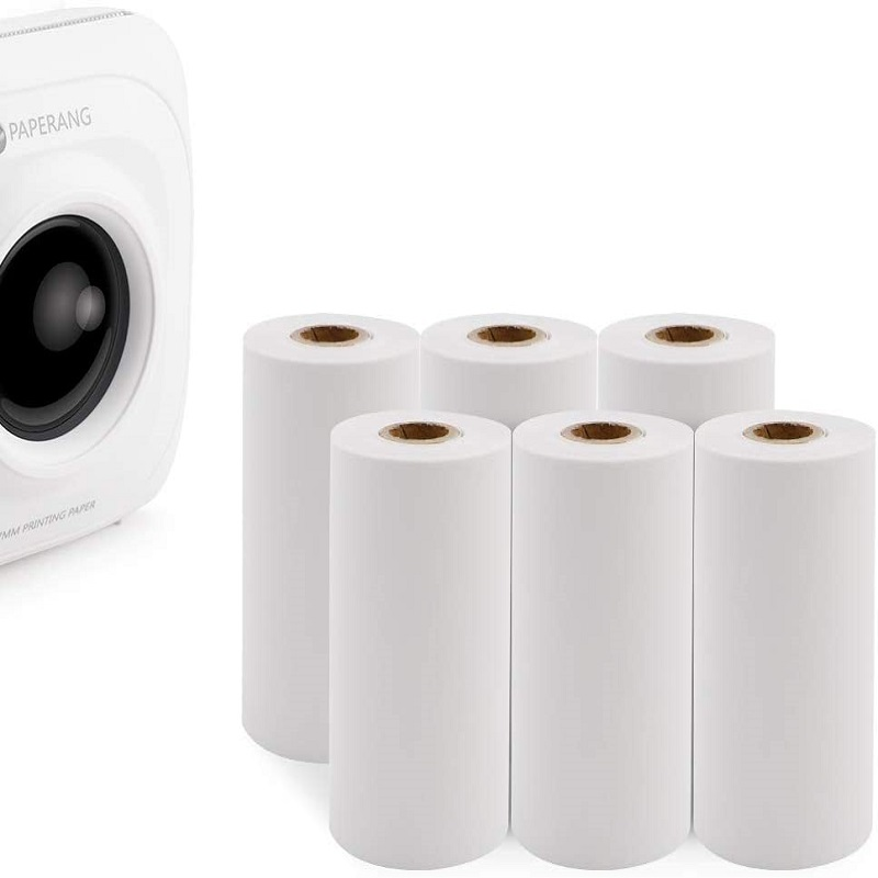5 рулонов термопечатная бумага мини Карманный фотопринтер кассовый аппарат бумажная бумага для бумаги ang Peripage термальный POS принтер 57x30 мм