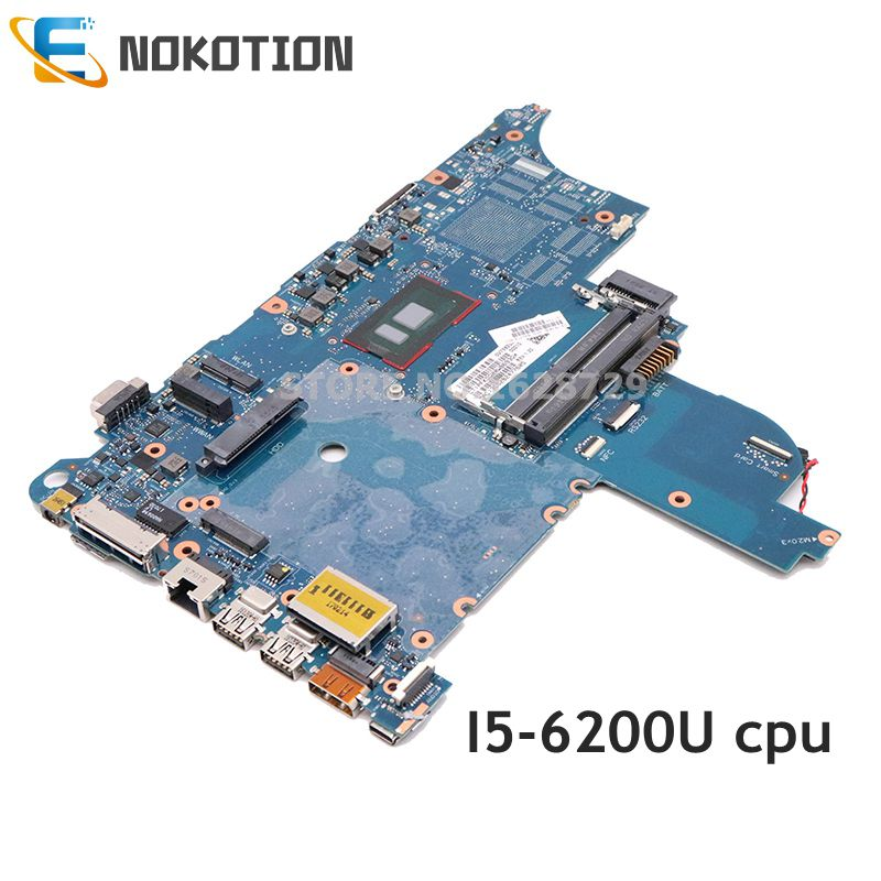 NOKOTION For HP Elitebook 640 <font><b>650</b></font> G2 Laptop motherboard <font><b>I5</b></font>-6200U CPU 6050A2723701-MB-A02 840716-601 840716-001 Mainboard DDR4 image
