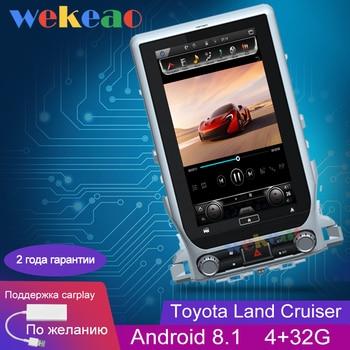 Wekeao Vertical Screen Tesla Style 14'' Android 8.1 Car Dvd Multimedia Player For Toyota Land Cruiser Radio Automotivo 2016+