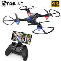 Eachine E38 WiFi FPV RC Drone 4K caméra débit optique 1080P HD double caméra aérienne vidéo RC quadrirotor avion Quadrocopter jouets