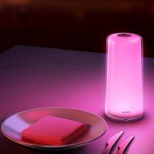 Image 2 - Xiaomi MIJIA Smart PHILIPS luz de Cabeceira Lâmpada de Cabeceira LEVOU luz de Escurecimento Noite Luz de Carregamento USB WiFi Bluetooth Mi Casa APP