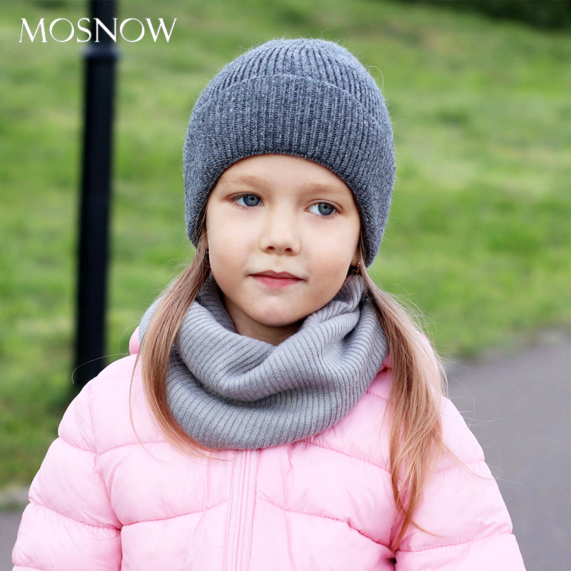 Kids Hats Solid Color Winter Cap Unisex Beanie Hat For Girls Rabbit Hair Toddler Soft Knitted Beanies Children's Cap